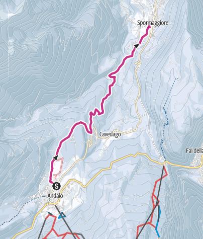 Cartina / La Via Imperiale da Andalo a Spormaggiore