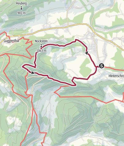 Karte / Von Koppl über den Nockstein auf die Gaisbergspitze