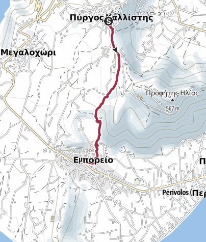 Map / Pyrgos to Emporio