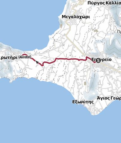 Map / Emporio to Akrotiri