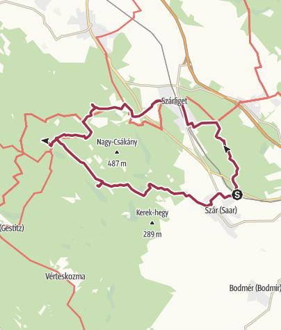 Térkép / Vértesi kilátókör