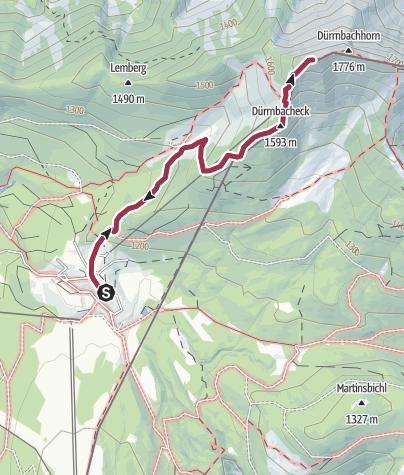 Map / Mit Sessellift-Hilfe aufs Dürrnbachhorn (1776 m) von der Winkelmoosalm
