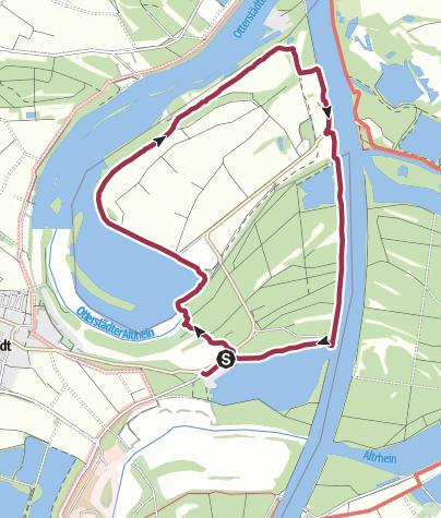 Karte / PWV OG Insheim: Die Kollerinsel, ein Altrhein- und Naturschutzgebiet nördlich von Speyer
