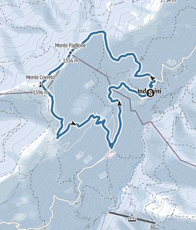 Karte / Von Indemini auf Monte Paglione und Covreto