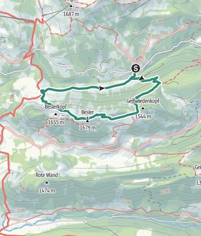 "Karte / Premiumwanderweg Nagelfluhschleife ""Beslerrunde"""