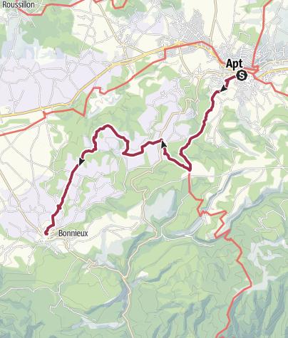 Map / Walk to Bonnieux