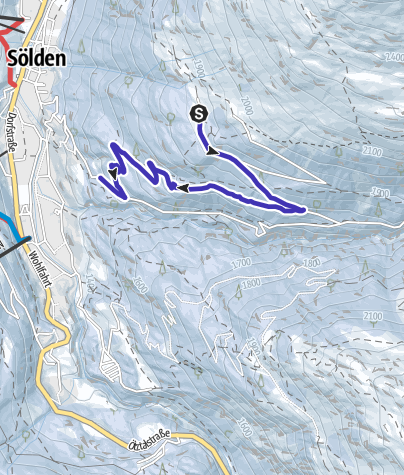 Map / Toboggan run Stallwiesalm - Sölden