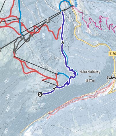 Map / Toboggan run Gaislachalm/ Silbertal - Sölden