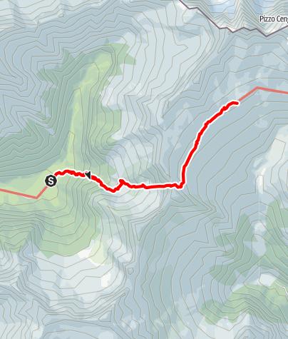 Karte / Sentiero Roma Etappe 2 – Vom Rifugio Brasca zur Capanna Gianetti