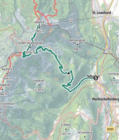 Karte / Untersberg ab Marktschellenberg zum Salzburger Hochthron