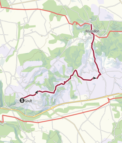 Map / Walk to Roussillon