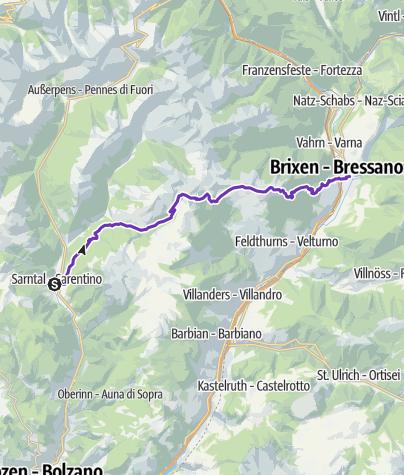 Karte / GORE-TEX® Transalpine Run 2018 7. Etappe