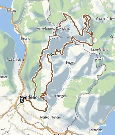 Karte / Monte Generoso