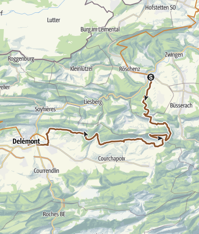 Mapa / MTB-Land Schweiz: 3 Jura Bike, Etappe 02