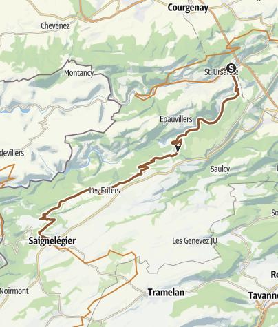 Karte / MTB-Land Schweiz: 3 Jura Bike, Etappe 04