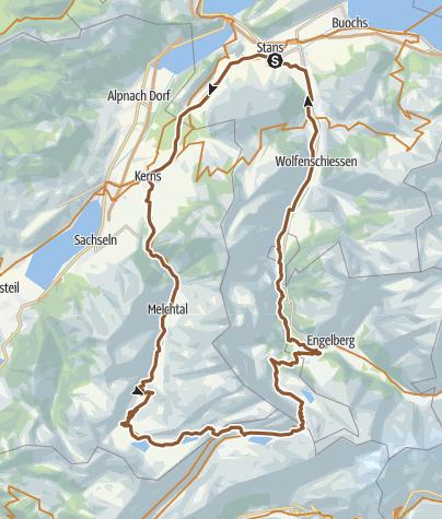 Karte / Melchsee-Frutt - Jochpass