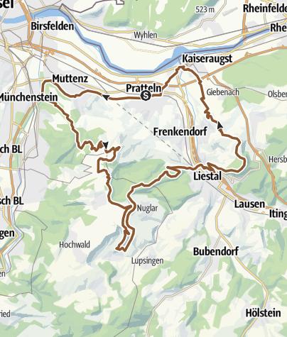 מפה / Liestaler Turm