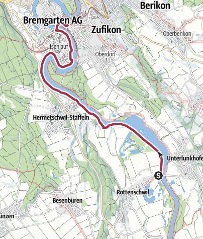 Karte / Naturschutzpark und Bremgarten