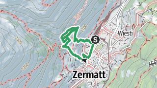 Karte / Klettersteig Zermatt - Route B