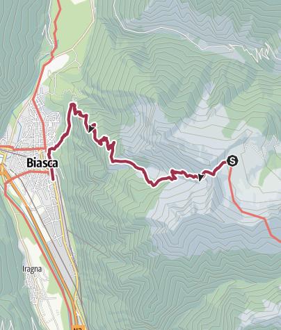 Karte / Via Alpina: Alpe di Cava - Biasca