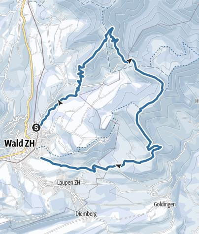 Map / Wald – Schwarzenberg – Wald: «Rundtour»