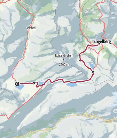 Karte / Nidwaldner Höhenweg: Etappe 2