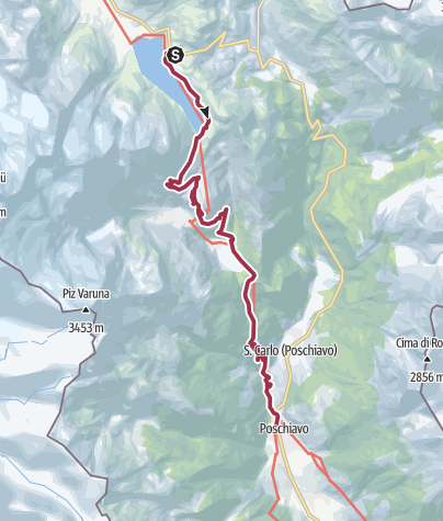 Karte / Ospizio Bernina - Alp Grüm - Poschiavo