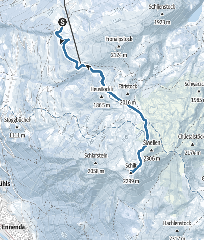 Karte / Schilt von Skihütte Fronalp