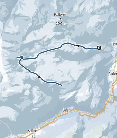 Karte / Schwarzhorn (3032 m.ü.M.)