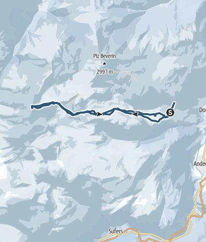 Karte / Bruschghorn (3056 m.ü.M)
