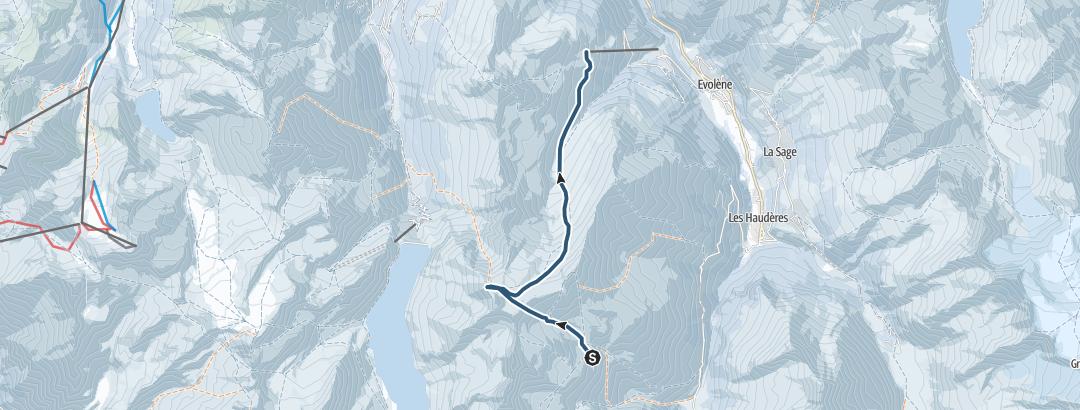 Kart / Pointe de Vouasson (3489 m.ü.M.)