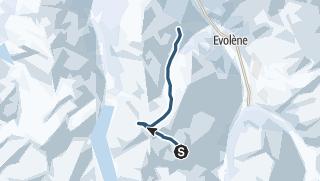 Mapa / Pointe de Vouasson (3489 m.ü.M.)