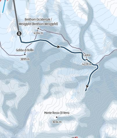 Karte / Castor (4223 m.ü.M.)