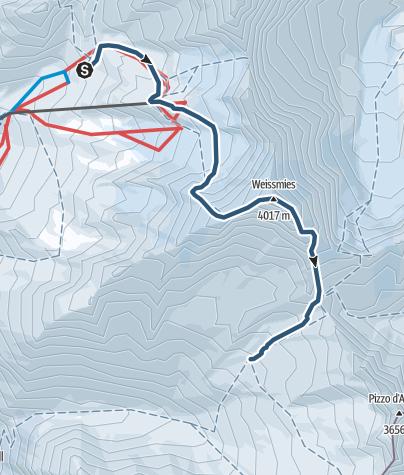 Karte / Weissmies (4017 m.ü.M.)