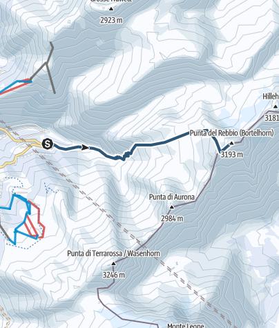 Karte / Bortelhorn oder Punta del Rebbio (3194 m.ü.M.)