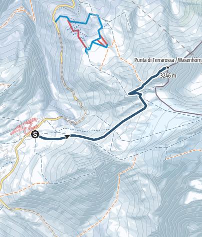 Karte / Wasenhorn oder Punta Terrarossa (3245.8 m.ü.M.)