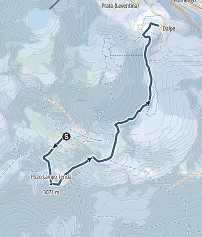 Karte / Pizzo Campo Tencia (3071 m.ü.M.)