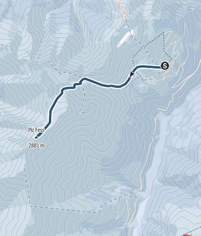 Map / Piz Fess (2873 m.ü.M.)