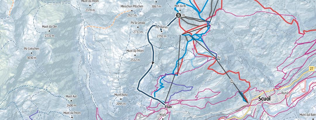 Hartă / Piz Clünas (2793 m.ü.M.)