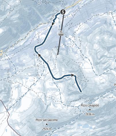 Carte / Pizzo Grandinagia (2700 m.ü.M.)