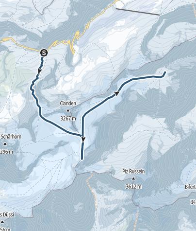 Karte / Planurahütte (2947 m.ü.M.)