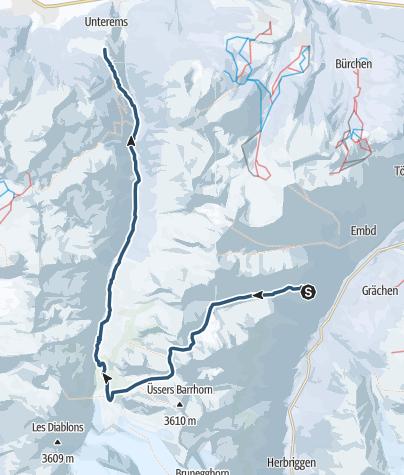 Karte / Turtmannhütte (2519 m.ü.M.)