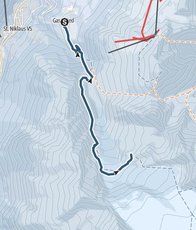 Karte / Bordierhütte (2886 m.ü.M.)