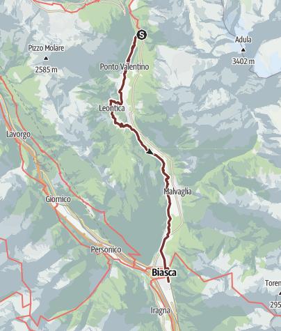 Karte / Via Francisca: Aquila - Biasca