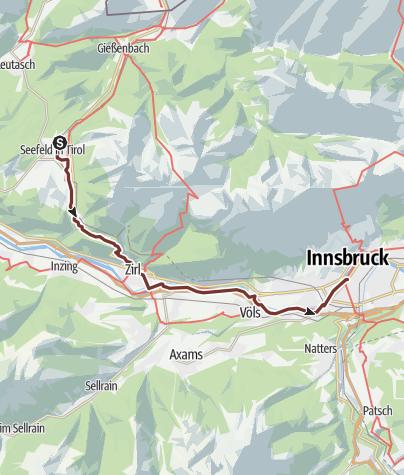 Hartă / Via Romea: Seefeld in Tirol - Innsbruck