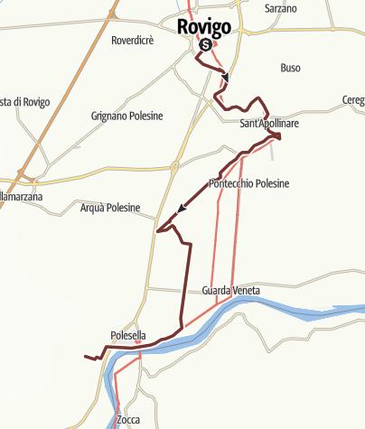 Kartta / Via Romea: Rovigo - Raccano