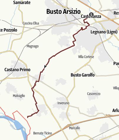 Karte / Via Francisca: Castellanza - Castelletto