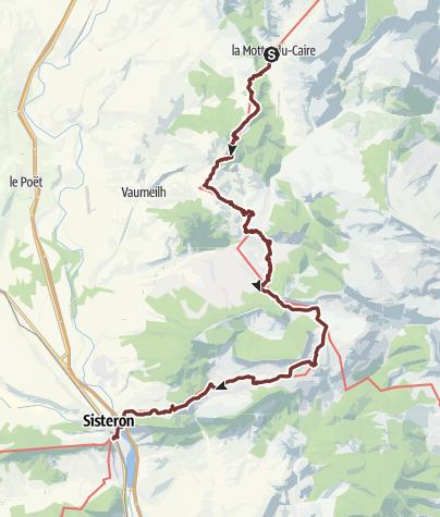 Karte / Via Domitia: La Motte-Du-Caire - Sisteron