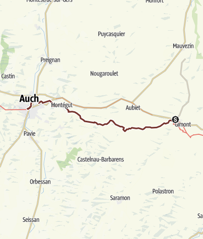 Carte / Via Tolosana: L´Isle-Arné - Auch