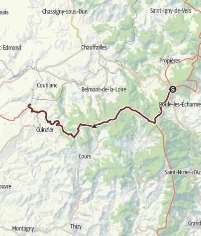 Karte / Burgunderweg: Col des Echarmeaux - Mars